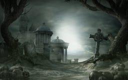 Verlaten heiligdom royalty-vrije illustratie