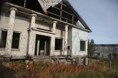 Verlaten het gebied van Moermansk Rusland in het noorden Russische Federatie Stock Afbeeldingen