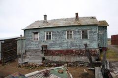 Verlaten het gebied van Moermansk Rusland in het noorden Russische Federatie Royalty-vrije Stock Afbeeldingen