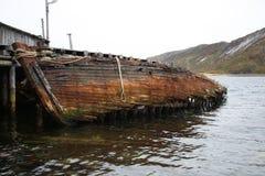 Verlaten het gebied van Moermansk Rusland in het noorden Russische Federatie royalty-vrije stock foto