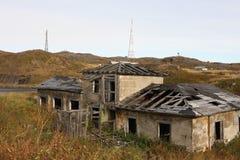 Verlaten het gebied van Moermansk Rusland in het noorden Russische Federatie stock foto