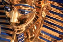 Verlaten het gezicht van Tutankamon stock afbeelding