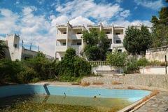 Verlaten Hotel royalty-vrije stock fotografie