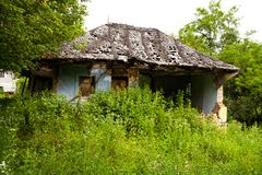 Verlaten huis stock foto