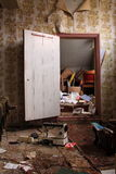 Verlaten huis binnenlands detail Stock Afbeeldingen