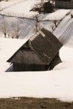Verlaten huis in de vallei Royalty-vrije Stock Afbeeldingen