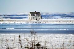 Verlaten huis door het overzees Royalty-vrije Stock Afbeeldingen