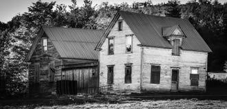 Verlaten huis in New Brunswick, Canada stock afbeeldingen