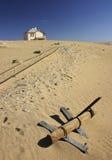 Verlaten huis in woestijn Royalty-vrije Stock Afbeeldingen