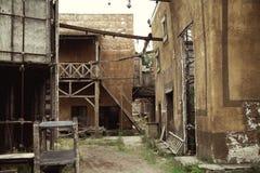Verlaten huizen in oud Rome Royalty-vrije Stock Fotografie