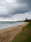 Verlaten Hukilau-Strand in Laie, het Noordenkust Oahu, Hawaï Royalty-vrije Stock Fotografie