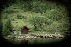 Verlaten hut Stock Foto's
