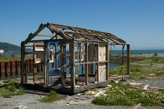 Verlaten hut. Royalty-vrije Stock Foto