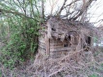 Verlaten Hut stock fotografie