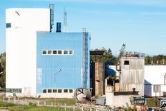 Verlaten Industriële Fabriek Royalty-vrije Stock Afbeeldingen