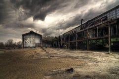 Verlaten Industriële Gebouwen Royalty-vrije Stock Afbeelding