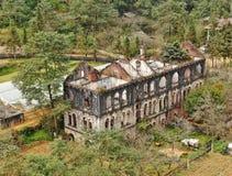 Verlaten Japans klooster royalty-vrije stock foto