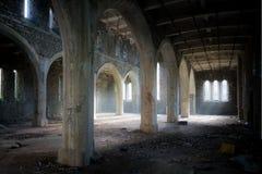 Verlaten kerk Wales stock foto's
