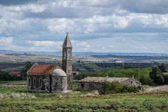 Verlaten kerk in zuidelijk Italië Royalty-vrije Stock Afbeeldingen