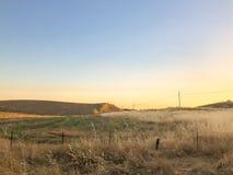 Verlaten Land in Centraal Californië royalty-vrije stock foto