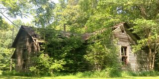 Verlaten Landbouwbedrijfhuis in Kentucky Stock Foto's