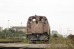 Verlaten locomotief Stock Afbeeldingen