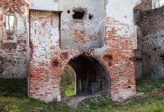 Verlaten middeleeuwse kerk van heilige Barbara royalty-vrije stock foto