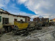 Verlaten mijnen in Potosi, Bolivië stock afbeelding