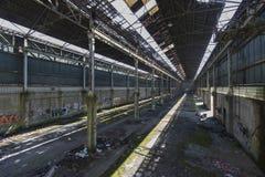 Verlaten mijngebouwen in België Royalty-vrije Stock Fotografie