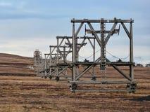 Verlaten Mijntorens Svalbard stock afbeeldingen