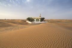 verlaten moskee in een woestijn Stock Afbeelding