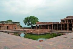 Verlaten oude stad Fatehpur Sikri dichtbij Agra, India Stock Foto