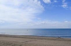 Verlaten overzees strand Stil overzeese Overzees oppervlaktelandschap royalty-vrije stock foto's
