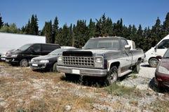 Verlaten parkeren op gebied Royalty-vrije Stock Foto