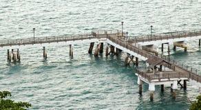 Verlaten pier bij het Park van Labrador in Singapore Royalty-vrije Stock Afbeeldingen