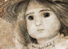 Verlaten pop met glasogen Royalty-vrije Stock Afbeelding