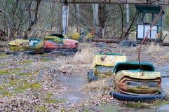 Verlaten pretpark in Pripyat, Tchernobyl royalty-vrije stock foto