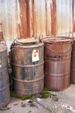 Verlaten radioactief afval Royalty-vrije Stock Afbeelding
