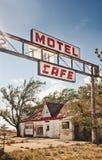Verlaten restaurant op Route 66 stock afbeeldingen
