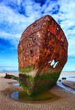 Verlaten roestig schip royalty-vrije stock fotografie