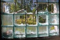 Verlaten ruïnes van militaire regeling in Skrunda, Letland royalty-vrije stock foto