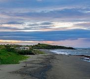 Verlaten rustiek strand, Panama, Midden-Amerika royalty-vrije stock fotografie