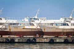 Verlaten schepen Royalty-vrije Stock Foto