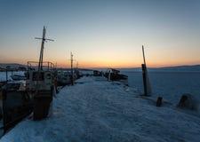 Verlaten schepen Stock Foto's