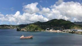 Verlaten schip, Grenada stock video
