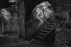 Verlaten schuilplaats van de tweede wereldoorlog Royalty-vrije Stock Foto