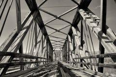 Verlaten Spoorbrug Royalty-vrije Stock Foto
