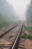 Verlaten spoorweg Stock Foto's