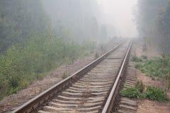 Verlaten spoorweg Stock Afbeelding