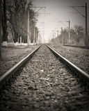 Verlaten spoorweg Stock Foto